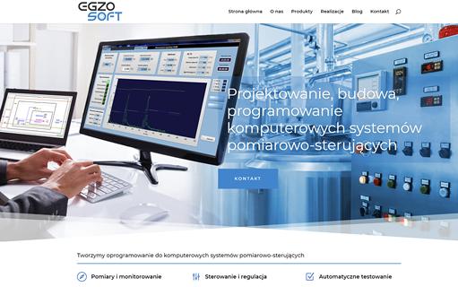 Strona internetowa EGZO SOFT