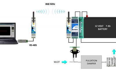 Bezprzewodowy aspirator do pobierania próbek powietrza
