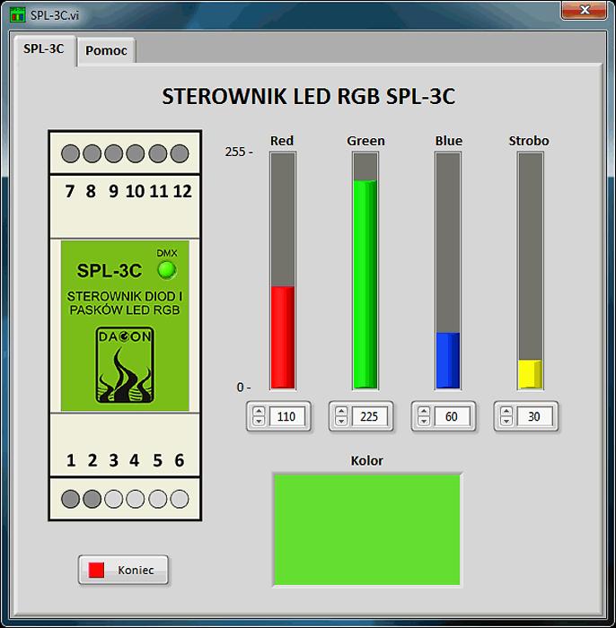 Oprogramowanie do sterowania diodami LED RGB