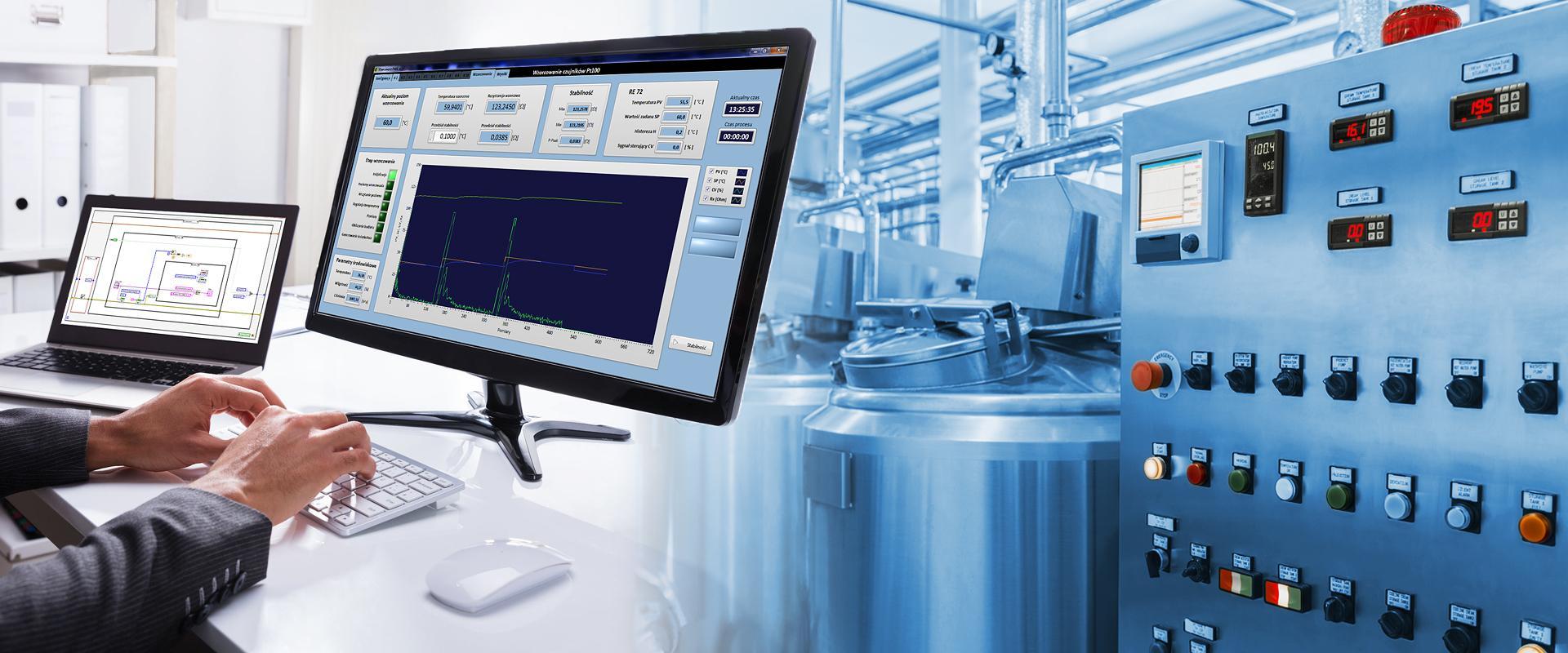 EGZO SOFT - strona internetowa firmy zajmującej się tworzeniem oprogramowania do komputerowych systemów pomiarowo-sterujących