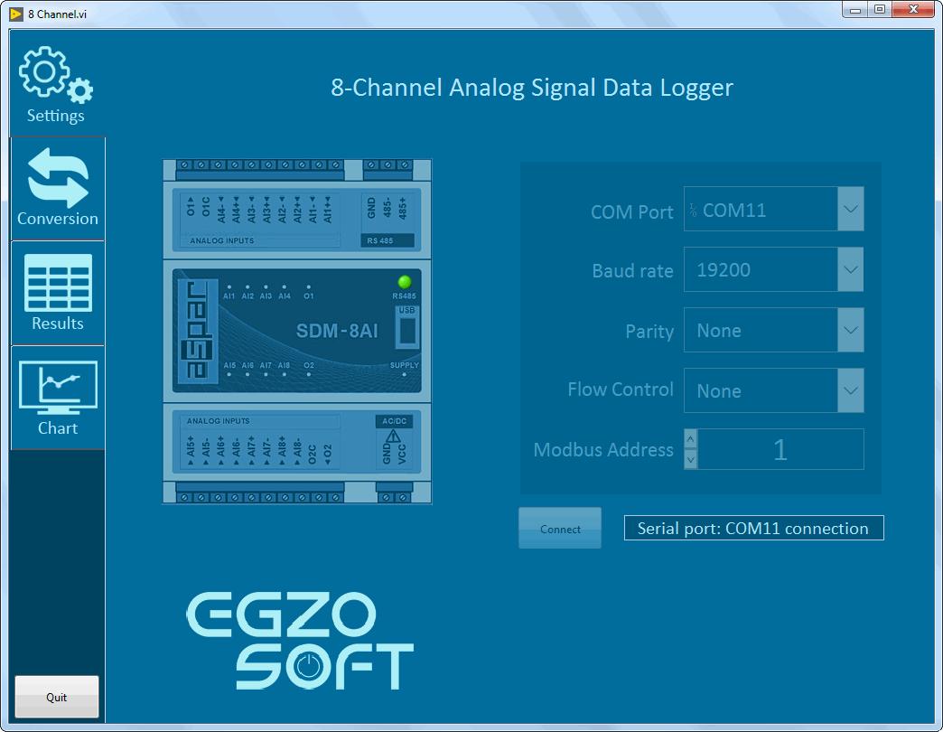Oprogramowanie do monitorowania standardowych sygnałów analogowych