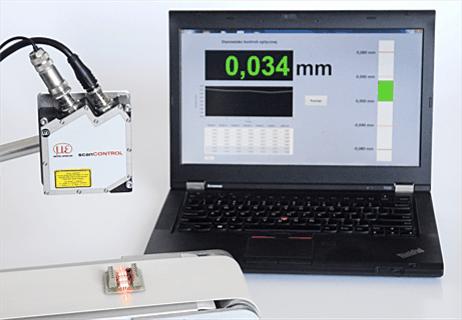 Profilometr laserowy - bezkontaktowy pomiar wymiarów geometrycznych