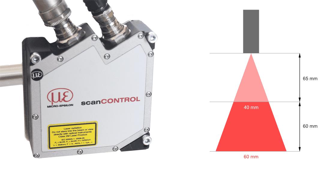 Profilometr laserowy scanCONTROL 2610-50 firmy MICRO-EPSILON